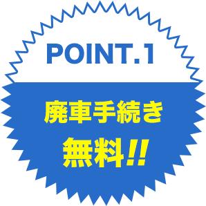 point.1廃車手続き無料!!